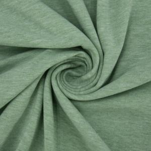 Ткань на отрез кулирка 1106 меланж цвет ментол