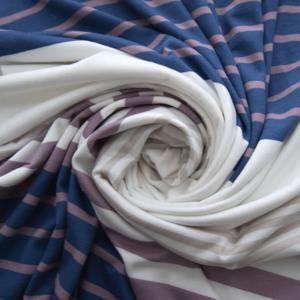 Ткань на отрез кулирка Разноцветная полоса