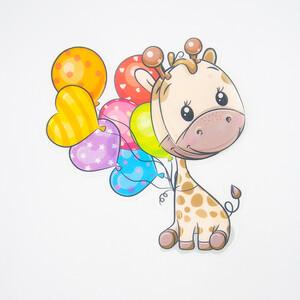 Нашивка Жираф с шариками 3D 22*17см