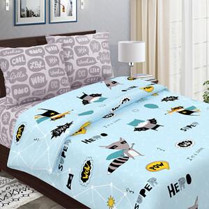 Детское постельное белье из бязи 1.5 сп 3076-1 Супергерои