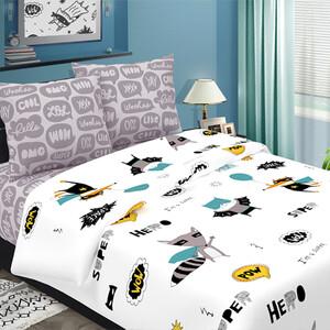 Детское постельное белье из бязи 1.5 сп 3076-2 Супергерои