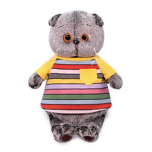 Кот Басик в полосатой футболке с карманом, игрушка BudiBasa КОТ БАСИК
