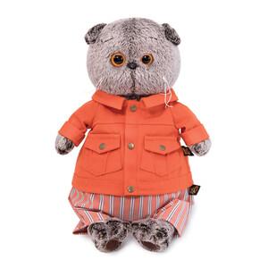 Кот Басик в оранжевой куртке и штанах, игрушка BudiBasa КОТ БАСИК