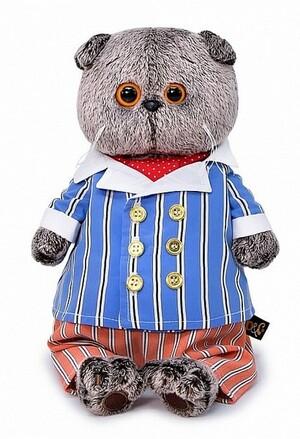 Кот Басик в полосатом костюме, игрушка мягкая Budi Basa КОТ БАСИК
