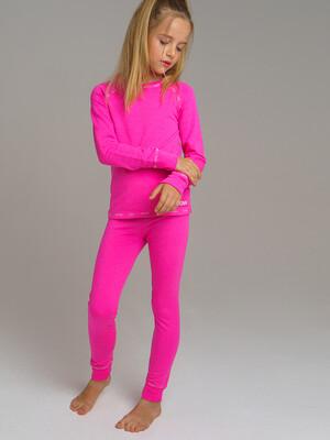 32021040 Термокомплект трикотажный для девочек: брюки, толстовка, для эпизодическиого использования