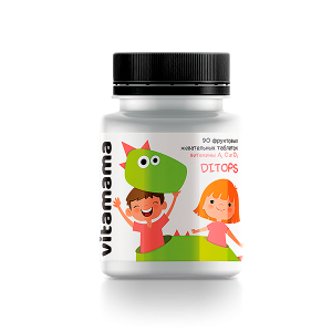 Фруктовые жевательные таблетки с витаминами A, C и D Ditops  - Vitamama