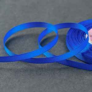 Лента репсовая, 6 мм, 23 ± 1 м, цвет синий №40