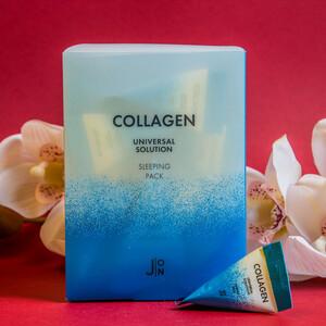 J:ON КОЛЛАГЕН НАБОР Маска для лица Collagen Universal Solution Sleeping Pack, 20 шт * 5гр