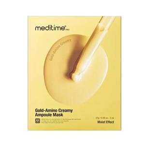Укрепляющая тканевая маска с аминокислотами Meditime Gold Amino Creamy Ampoule Mask