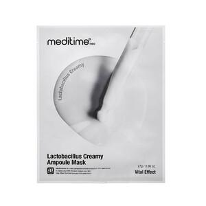 Регенерирующая тканевая маска с пробиотиками Meditime Lactobacillus Creamy Ampoule Mask