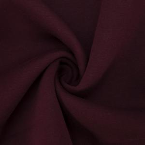 Ткань на отрез футер 3-х нитка компакт пенье начес цвет темно-бордовый