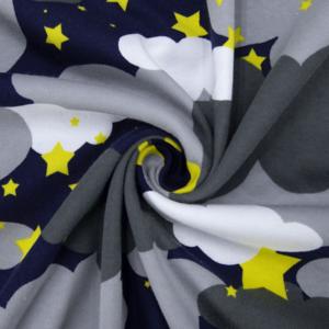 Ткань на отрез интерлок R4169-V1 Звездное небо цвет серый