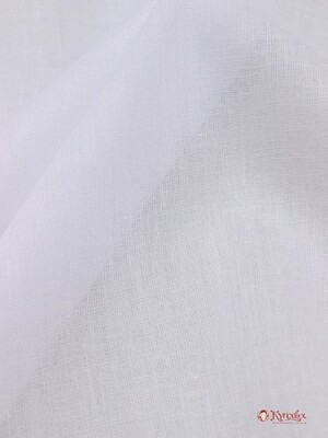 Батист цв.Белый (отбел.), ш.1.48м, хлопок-100%, 60гр/м.кв