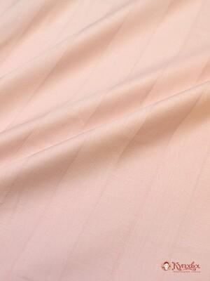 Сатин-страйп цв.Жемчужная роза СОРТ 2, ш. 2.2  м, хлопок-100% (3см*3см), 130 гр/м.квВ ОТРЕЗАХ