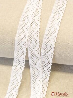 Кружево цв.белый, ш.30мм, хлопок-90%, п/э-10%