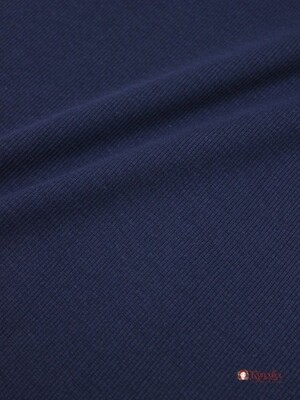 Кашкорсе цв.Чернильно-синий, ш.1,1м (0,55 м*2 чулок), Карде, хлопок-95%, эластан-5%, 240гр/м.кв