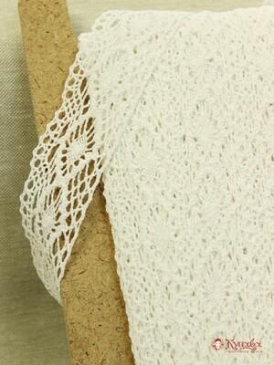 Кружево цв.белый, ш.40мм, хлопок-90%, п/э-10%