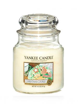 114504E Рождественское печенье свеча в банке средняя-оф*