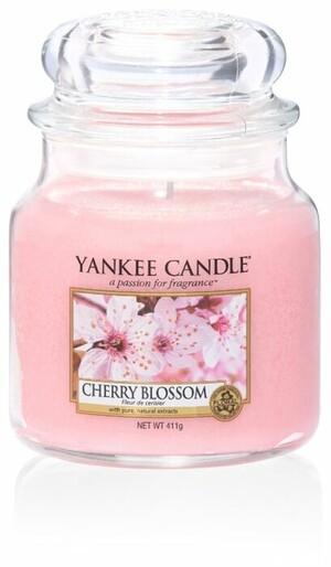 Аромасвеча в банке средняя Цветение вишни- оф*