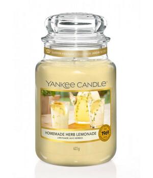Домашний лимонад Аромасвеча в стеклянной банке, большая