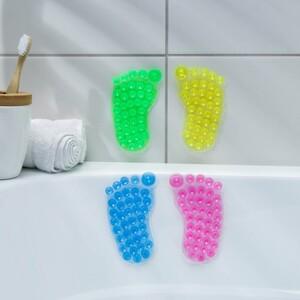 Мини-коврик для ванны «Нога», 11×12 см, цвет МИКС