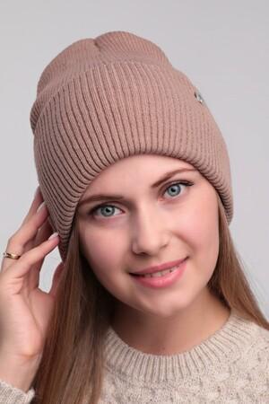 Женская шапка 36P010тёмный беж