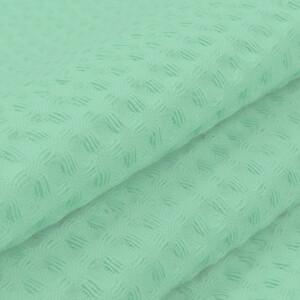 Ткань на отрез вафельное полотно гладкокрашенное 150 см 240 гр/м2 7х7 мм  цвет 079 фисташка