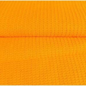 Ткань на отрез вафельное полотно гладкокрашенное 150 см 165 гр/м2 цвет апельсин