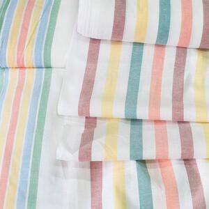 Ткань на отрез полулен полотенечный 50 см Полоса 75 113358