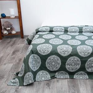 Пододеяльник из поплина 28256/2 Узор зеленый основа, 2-x спальный