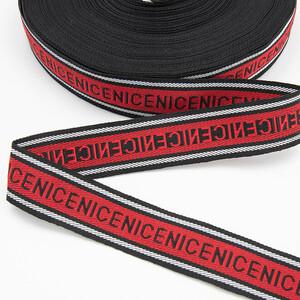 Тесьма красный черный NICE 2,5см 1 метр