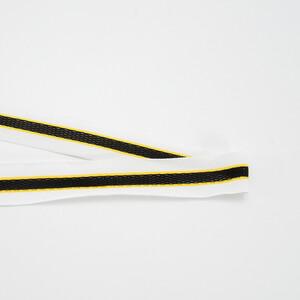 Лампасы №153 белый желтый черный с перфорацией 3см 1 метр