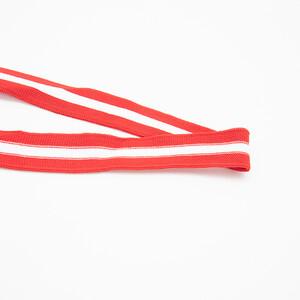 Лампасы №122 красный белый красный 2,5см 1 метр
