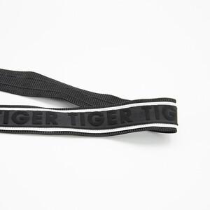 Лампасы №138 черный под кожу белые строчки надпись Fashion 2,5см 1 метр