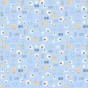 Ткань на отрез фланель 90 см 21186/2 Мишки