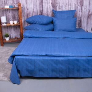 Постельное белье из перкаля 2049315 Эко 15 синий 2-х сп с евро простыней.