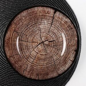 Блюдо сервировочное «Спил дерева», d=21,5 см