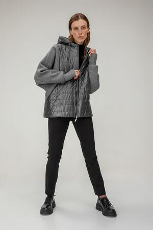 Куртка  с капюшоном арт. 10448/СЕРЫЙ