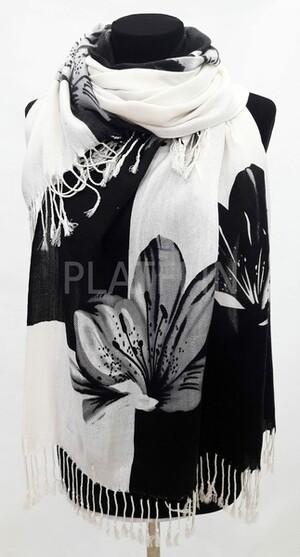 1012 Палантин с большими лилиями