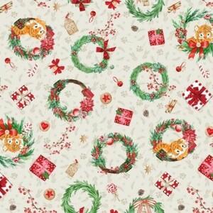 Ткань на отрез вафельное полотно набивное 150 см 29047/1 Holiday