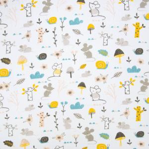 Ткань на отрез бязь плательная 150 см 013 Мышата в лесу