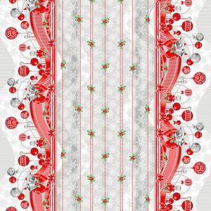 Ткань на отрез вафельное полотно набивное 150 см 202701В Новогодняя ночь