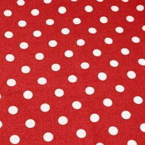 Ткань на отрез лен TBY-DJ-33-6 Горох на красном