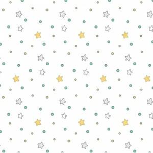 Ткани на отрез сатин детский 150 см 7354/1 Ночные прогулки (компаньон)