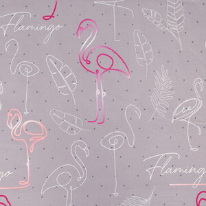 Ткань на отрез поплин 220 см 20573/1 Фламинго (основа)