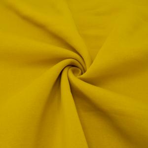 Ткань на отрез футер 3-х нитка компакт пенье начес цвет горчичный