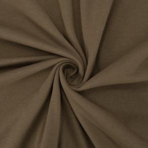 Ткань на отрез кулирка М-2114 цвет коричневый