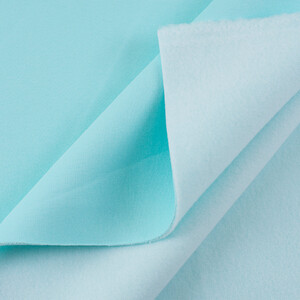 Ткань на отрез футер 3-х нитка компакт пенье начес цвет ментол