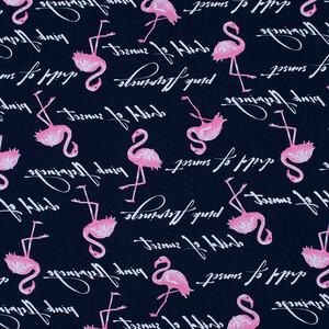 Ткань на отрез кулирка R2224-V1 Розовый фламинго
