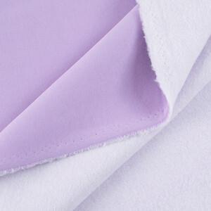 Ткань на отрез футер 3-х нитка компакт пенье начес 6855-1 цвет светло-лиловый